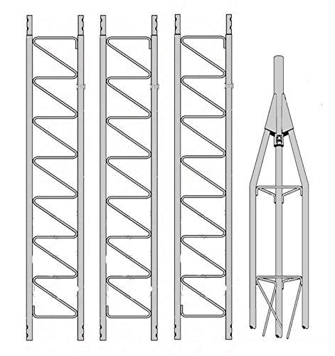 Rohn 25 gシリーズ35 ' Tower with 25 AG上部セクションとスクリューセット   B01NCXPHBB