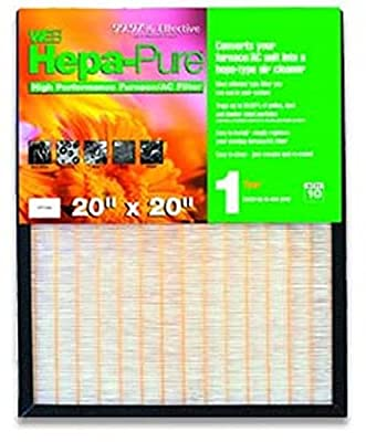 "Hepa Pure High Performance Furnace / AC Air Filter Size: 20"" H x 20"" W x 1"" D"