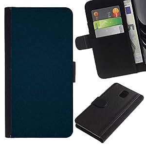 // PHONE CASE GIFT // Moda Estuche Funda de Cuero Billetera Tarjeta de crédito dinero bolsa Cubierta de proteccion Caso Samsung Galaxy Note 3 III / DARK BLUE BAROQUE /