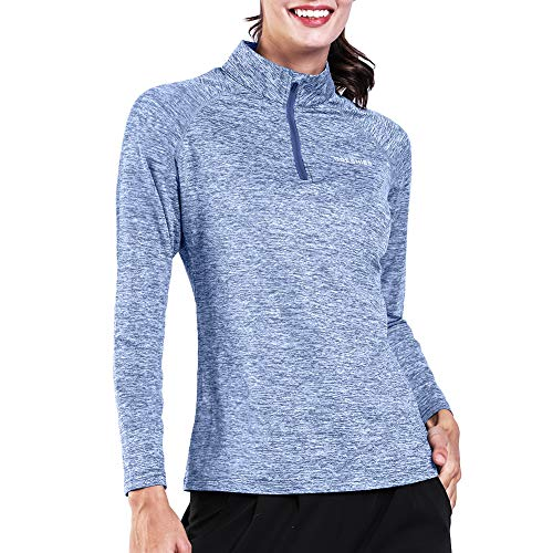 Thermal 1/4 Zip (Ogeenier Women's 1/4 Zip Pullover Running Shirts Thermal Long Sleeve Shirts Tops Sweatshirts)