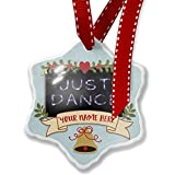 Add Your Own Custom Name, Just Dance Neon Light Graffiti Christmas Ornament NEONBLOND