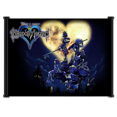 "Kingdom Hearts Game Fabric Wall Scroll Poster 21""x 16"" Inche"
