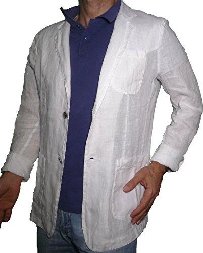 Fit Puro Leggera Blazer Aderente Lino Bianco Ragazzo Giacca Casual Slim Uomo gXxqw07d
