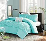 Turquoise, Blue, Aqua Girls Twin Comforter Set (3 Piece Bed In A Bag)
