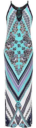 and strap thin maxi vibrant opal M stretch dress fit S prints dresses sleeveless Women's long hugging XL figure colors L sun H56nwaUpq