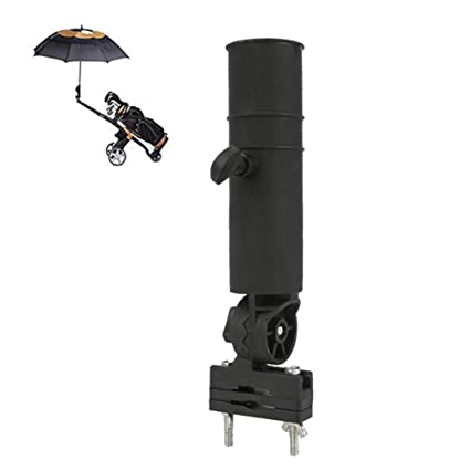 KEBY Soporte para Paraguas de Golf, Soporte para Paraguas con Ruedas y Soporte Ajustable para