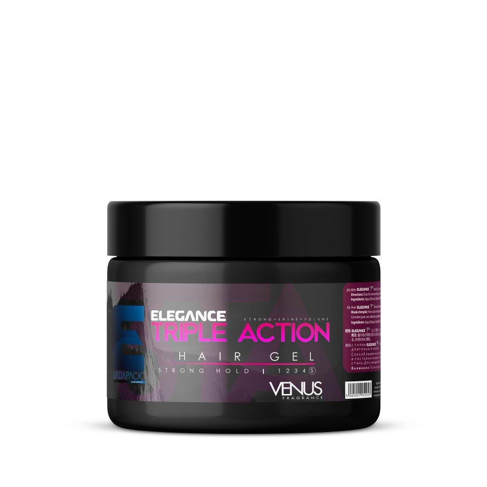 Elegance Strong Hold Hair Gel, Venus Fragrance, 8.8 Oz