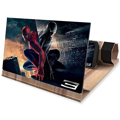 """3D Phone Screen Amplifier- Foldable Phone Stander - 12"""" HD Suitable for Movies or Gaming with iPhone X/8/8 Plus/7/7 Plus/6/6s/6 Plus/6s Plus and All Other Smart PhonesALL Smart Phones from VXSCAN"""
