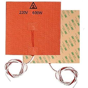 1PC 300X300mm Almohadilla calefactora de silicona 220V 600W con ...