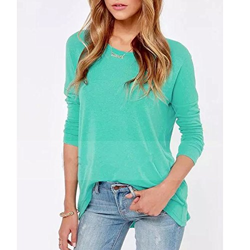 Baishenggt womens long sleeve v neck zipper sexy chiffon pullover t-shirt blouse