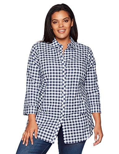 Foxcroft Women's Plus-Size Cici Gingham Tunic - Choose  SZ color  60% off