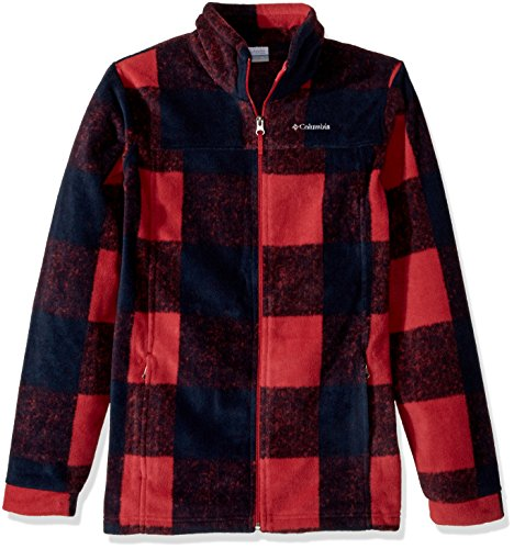 - Columbia Little Boys' Toddler Zing LLL Fleece Jacket, Mountain Red Buffalo Plaid, 3T