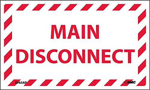 EPA5AP National Marker Main Disconnect Label (Pack of - Disconnect Main