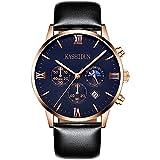KASHIDUN Men's Wrist Waterproof Watches Casual Quartz Analog Luxury Top Brand Men Watch-Black ZH-JHP