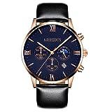 KASHIDUN Men's Wrist Waterproof Watches Casual Quartz Analog Luxury Top Brand Men Watch-Black.ZH-JHP