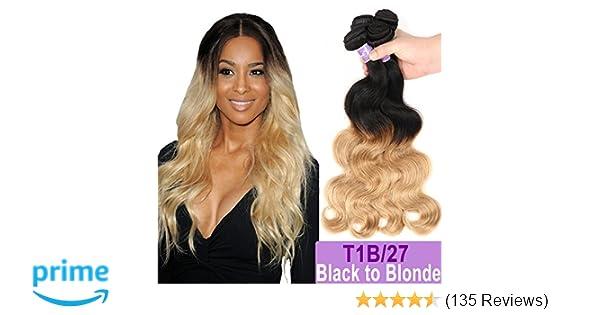 Amazon.com   Ombre Brazilian Hair Body Wave Bundles 3pcs b514820783