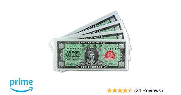 Chinese Joss Paper - Hell Bank Notes - US Dollar - $10,000 USD (Pack of 150)