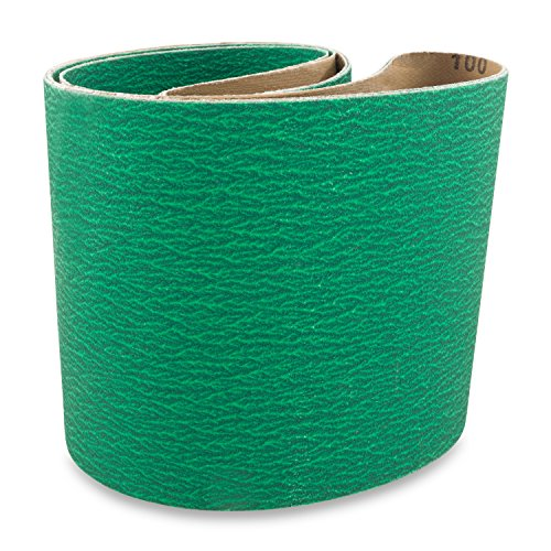 6 X 48 Inch 100 Grit Metal Grinding Zirconia Sanding Belts, 2 Pack by Red Label Abrasives