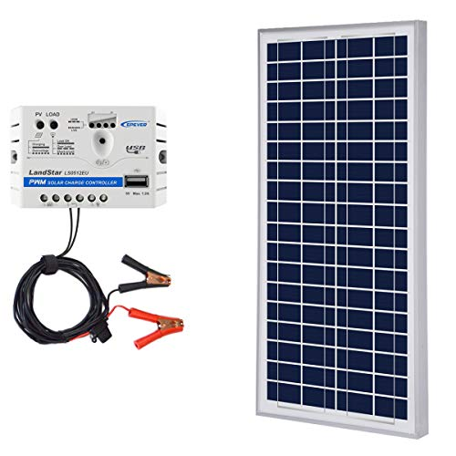 ACOPOWER 35W 12V Solar Charger Kit, 35 Watts Polycrystalline Solar Panel & 5A Charge Controller for RV, Boats, Camping; w USB 5V Output as Phone Charger (35 Panel)