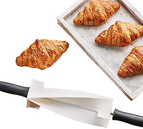 Stainless Steel Wooden Rolling Croissant Dough Pastry Cutter Pin Kitchen FM