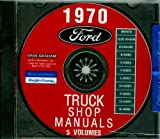 A MUST FOR OWNERS, MECHANICS, RESTORERS. 1970 FORD TRUCK & PICKUP FACTORY REPAIR SHOP & SERVICE MANUAL CD - INCLUDES F100 F150 F250 F350 F500 F600 TO F7000, C-Series, W-Series, P-Series, WT-Series, L-Series, LN-series, N-Series, HT-Series 70