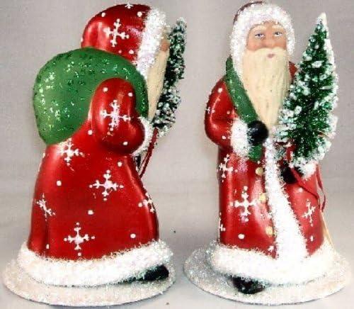 Ino Schaller Paper Mache Red Walking Snowflake Santa