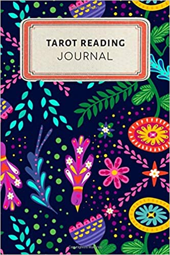Tarot reading Journal: Cute Floral Dotted Grid Bullet Journal