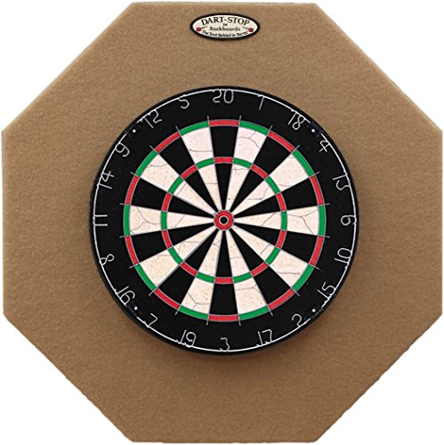 29' Professional Dartboard Backboard, Octagonal (Tan)