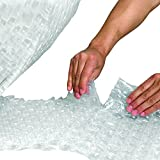Ship Now Supply SNBWUP51648P Upsable Perforated Air Bubble Rolls, 5/16'' x 48'' x 188', (1 Roll), 48'' width, 0.313'' Height, Clear