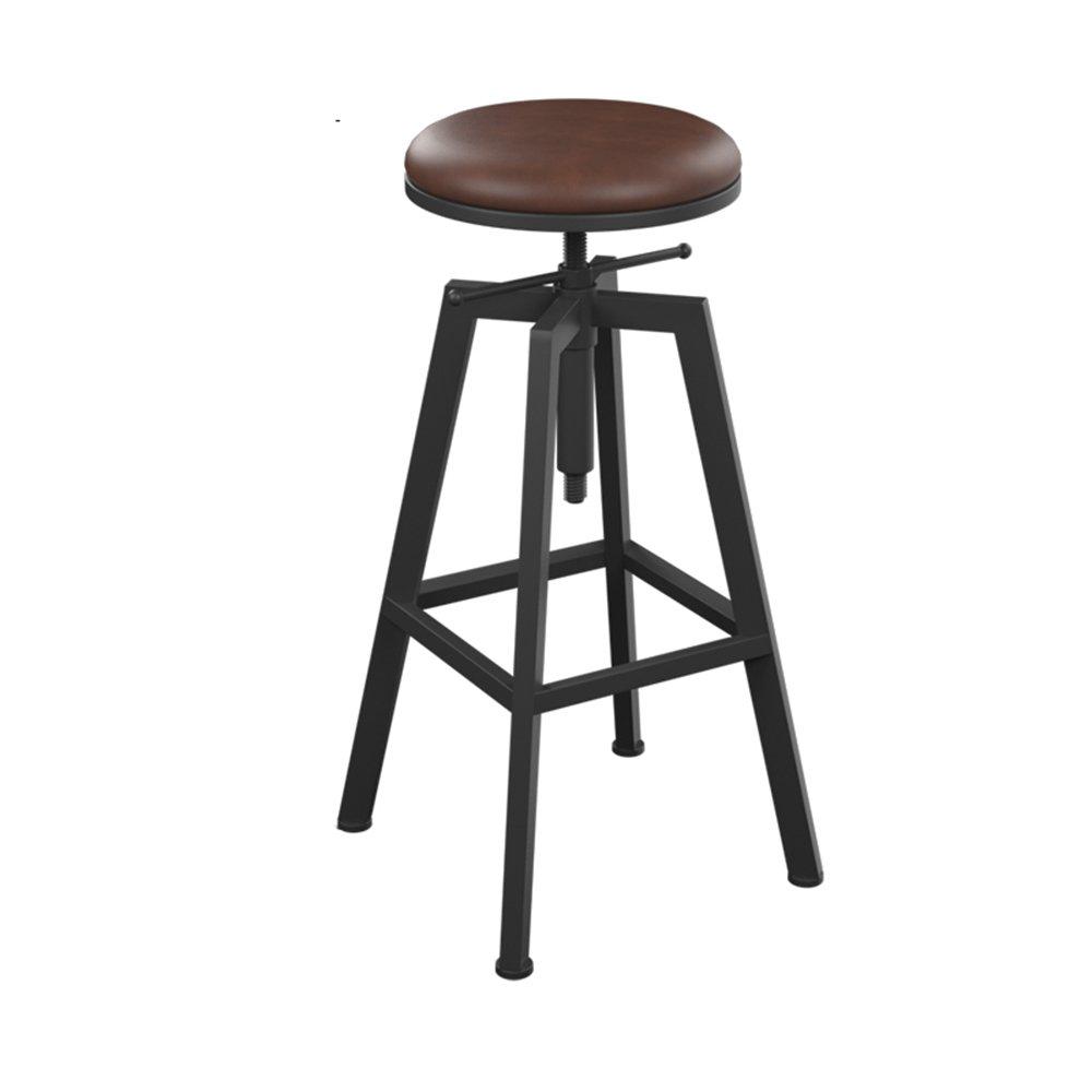 MENA Home Iron Solid Wood Barhocker Barhocker Barhocker Front Desk Chair Barhocker Einfache Hoch Barhocker High Hocker (Farbe   C) A