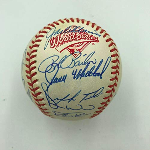 1992 Toronto Blue Jays World Series Champs Team Signed W.S. Baseball COA - JSA Certified - Autographed Baseballs
