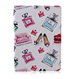 iPad air 2 (iPad 6) Case,Stylish Art Printed Flip PU Leather Stand Protective Case ,New Style Colorful Premium PU Leather Folio Case For iPad 5 9.7inch(Pattern 8)