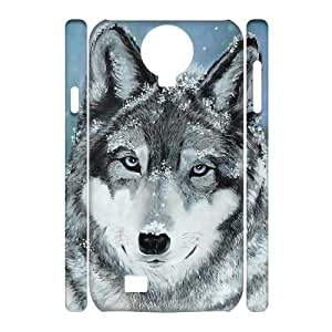 QSWHXN Cell phone Cases Wolf Howling Hard 3D Case For Samsung Galaxy S4 i9500