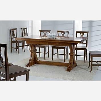 Tavolo da cucina allungabile in legno - SG716: Amazon.it ...