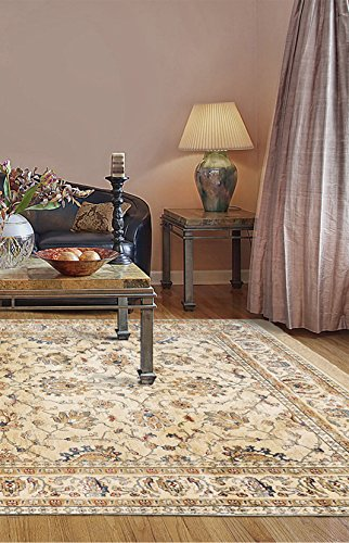 Ecarpetgallery Traditional Shiravan Open Field 7' x 10' Ivory Living Room Dining Room arearug from eCarpet Gallery