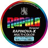 Rapala(ラパラ) PEライン ラピノヴァX マルチカラー 200m 0.8号 17.8lb マルチカラー RXC200M08MC