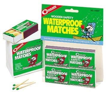 Coghlan's 940BP Waterproof Matches, Pack of 8