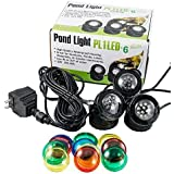 Jebao Submersible 3pcs 12-Led Pond Lights for Water Fountain Fish Pond Water Garden