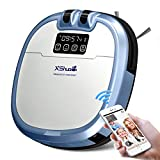 XShuai C3 Smart Robot Vacuum Cleaner Siri & Alexa Voice Control Camera Video Chat Schedule Cleaning Auto-Charge 5 Cleaning Modes HEPA Filter Pet Fur Allergens Hard Floor&Carpets Presented by Haier