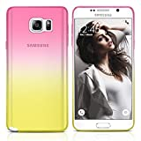 Galaxy Note 5 Case, MagicMobile Ultra Slim [Translucent] Colorful Clear Case for Samsung Galaxy Note 5 [Anti-Scratch] Flexible TPU Layer Thin Shell [Shock-Resistant] Back Skin Cover (Pink - Yellow)