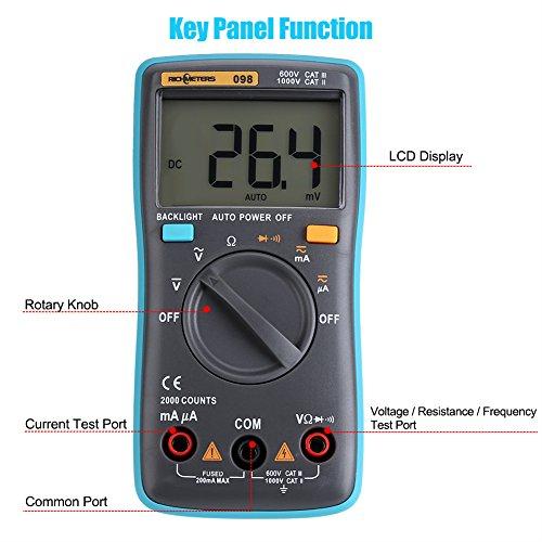 Yosoo Multim/ètre Professionnel Automatique Metrix Num/érique Testeur de Voltage Electrique AC// DC avec Ecran LCD Digital D/étecteur de Tension Pince