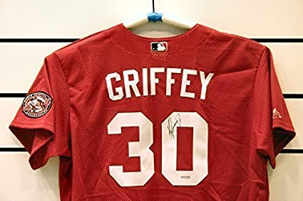 huge selection of 5a186 5d660 Ken Griffey Jr. Autographed Cincinnati Reds Jersey. at ...