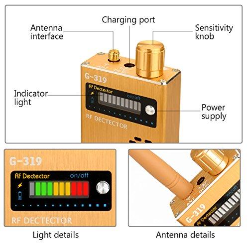 Eilimy Anti-spy Wireless RF Signal Detector Set [Upgrade Enhanced] Bug GPS Camera Signal Detector, for Detecting Hidden Camera GPS Tracker Wireless Signal Detector(Ultra-high Sensitivity) by Eilimy (Image #3)