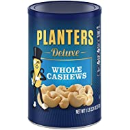 Planters Deluxe Whole Cashews, 1lb, 2.25 oz Canister