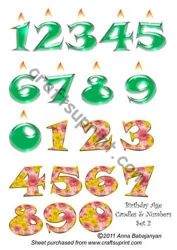 Cumpleaños Age velas y números juego de 2 por Anna ...
