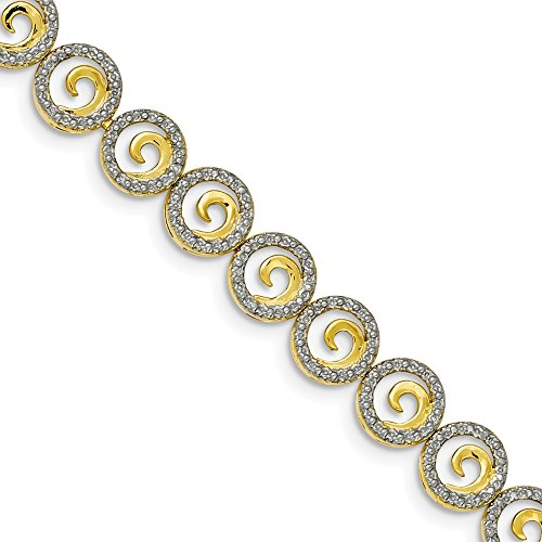 Diamond Accent Circle Bracelet - 6