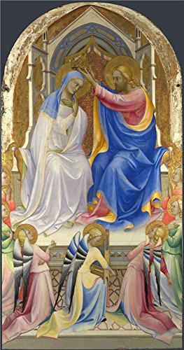 9' Chrome Booster (Oil Painting 'Lorenzo Monaco-The Coronation Of The Virgin,1407-9' 8 x 15 inch / 20 x 39 cm , on High Definition HD canvas prints is for Gifts And Bath Room, Kids Room And Study Room decor, cheapest)