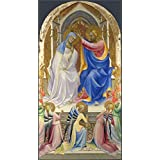 Canvas Prints Of Oil Painting 'Lorenzo Monaco-The Coronation Of The Virgin,1407-9' 18 x 34 inch / 46 x 87 cm , Polyster Canvas Is For Gifts And Bath Room, Kids Room And Study Room Decoration, artistic