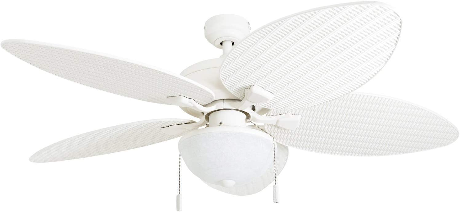 Matthews IR3H-TB-BW-52 Irene 52 Outdoor Hugger Ceiling Fan with Remote Wall Control, 3 Wood Blades, Textured Bronze