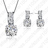 PerfectPrice Sterling Silver Necklace/Earring Women Jewelry Sets